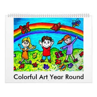Colorful Art Year Round Calendar