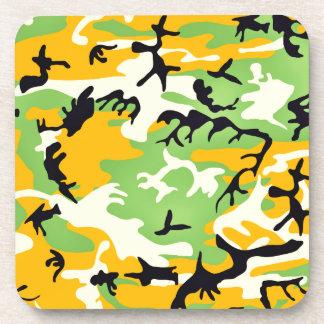 Colorful artistic camouflage design coaster