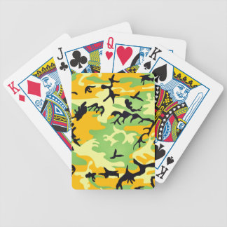 Colorful artistic camouflage design bicycle poker cards