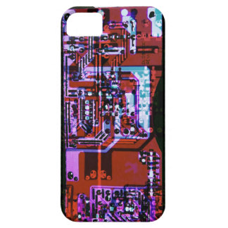 colorful artistic circuit board collage iPhone SE/5/5s case