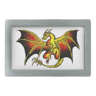 Colorful artistic dragon belt buckle