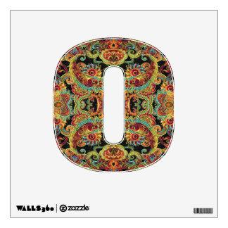 Colorful artistic drawn paisley pattern wall sticker