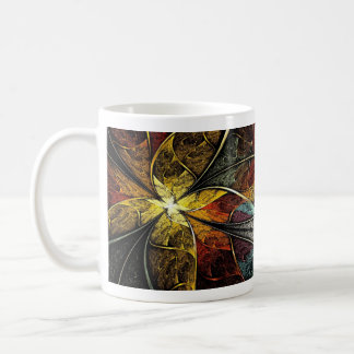 Colorful Artistic Fractal Basic White Mug