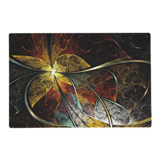 Colorful Artistic Fractal Laminated Placemat
