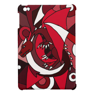 Colorful Artistic Red and White Dragon Art Cover For The iPad Mini