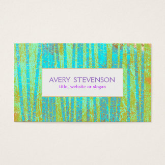 Colorful Artistic Turquoise Blue Bamboo Nature Business Card