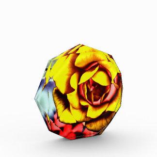Colorful Artistic Yellow Rose Award
