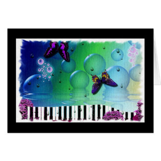 Colorful Artsy Piano Concert Invitation Greeting Cards
