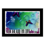 Colorful Artsy Piano Music Poster