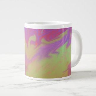 Colorful Artsy Splash Giant Coffee Mug