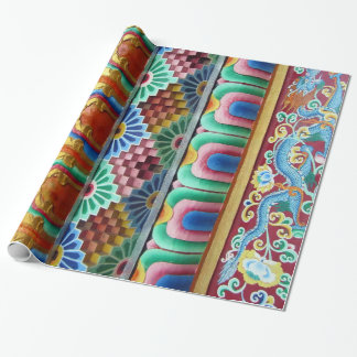 Colorful Asian Artwork Wrapping Paper