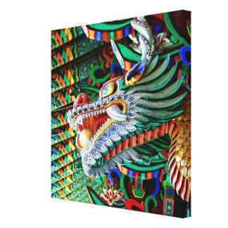 Colorful Asian Dragon Canvas Print