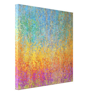 "Colorful Aspen Trees Wrapped Canvas 24"" x 24"""