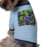 Colorful assorted buttons dog tshirt