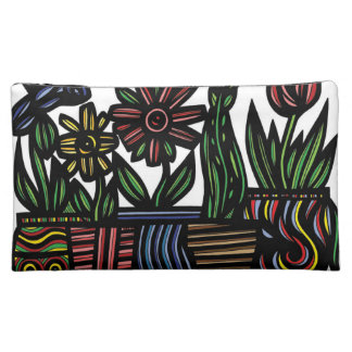 Colorful Assorted Flowers Cosmetics Bags