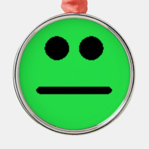 Colorful Assorted Smileys(See Description) Round Metal Christmas Ornament
