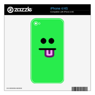 Colorful Assorted Smileys(See Description) Skin For The iPhone 4