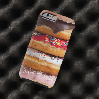 Colorful Assorted Sprinkles Chocolate Sweet Donuts Tough iPhone 6 Case