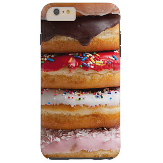 Colorful Assorted Sprinkles Chocolate Sweet Donuts Tough iPhone 6 Plus Case