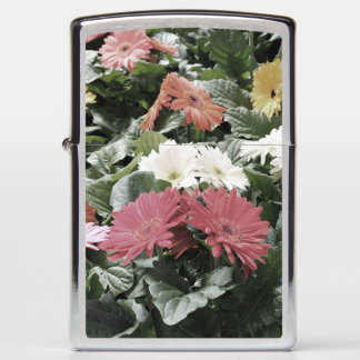 Colorful Asters Flowers with Muted Colors Zippo Lighter