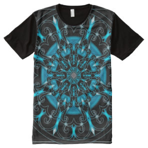 Colorful Astral Indie Art Mandala All-Over-Print T-Shirt