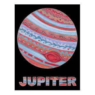 Colorful Astronomy Art Planet Jupiter Postcard