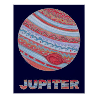 """Colorful Astronomy Jupiter 20"""" x 16"""" Poster"""