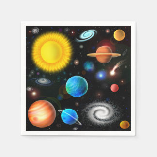 Colorful Astronomy Space Cocktail Napkins