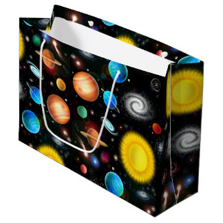 Colorful Astronomy Space Gift Bag