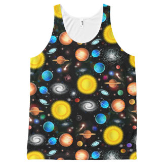 Colorful Astronomy Space Unisex Tank All-Over Print Tank Top