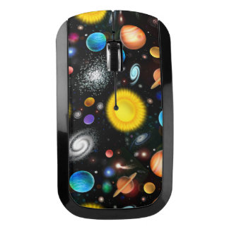 Colorful Astronomy Space Wireless Mouse