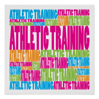 Colorful Athletic Training Poster