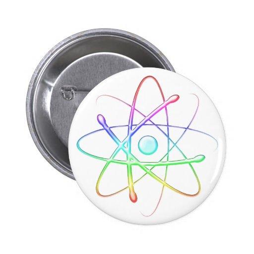 Colorful Atom (008) - Button