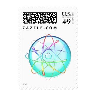 Colorful Atom (008) - Postage