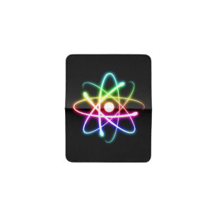 Geek business card holders cases zazzle colorful atom geek gifts business card holder colourmoves