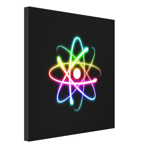 Colorful Atom Symbol - Canvas