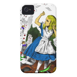 Colorful Attack of the Cards Alice in Wonderland iPhone 4 Cases