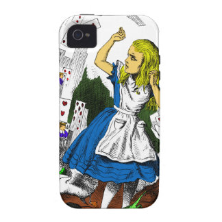 Colorful Attack of the Cards Alice in Wonderland Vibe iPhone 4 Cases