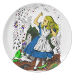 Colorful Attack of the Cards Alice in Wonderland Party Plate