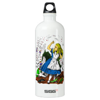 Colorful Attack of the Cards Alice in Wonderland Water Bottle