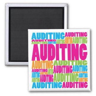 Colorful Auditing Fridge Magnet