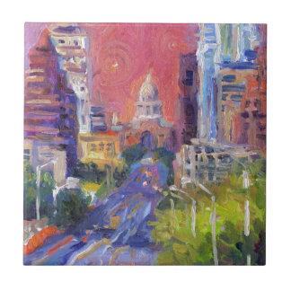 Colorful Austin Downtown Congress Avenue Art Tile