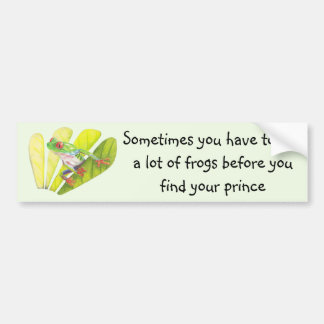 Colorful Australian Tree Frog Bumper Sticker