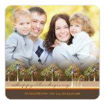 "Colorful Autumn Fall Trees Thanksgiving Photo Card 5.25"" Square Invitation Card"