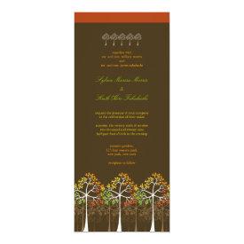 Colorful Autumn Fall Trees Woodland Wedding Invite 4