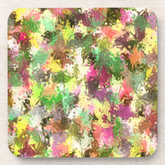 Colorful Autumn Leafs in Abstract Cork Coaster