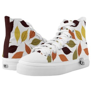 Colorful Autumn Leafs Pattern Printed Shoes