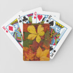 Colorful Autumn Leaves Bicycle Card Decks