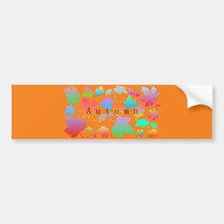 Colorful autumn leaves bumper sticker