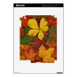 Colorful Autumn Leaves Decals For iPad 3